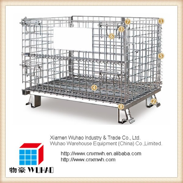 Stackable folding collapsible metal steel forklift safety cage for sale