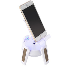 Evergreentech Rotating solar power advertising display solar display stand for Mobile Phones Cameras