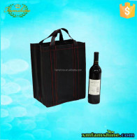 promotional cheap non woven wine bottle bag