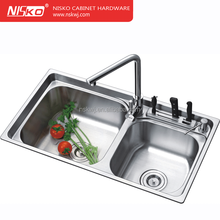 kitchen stainless steel sink with water drop tray,SS hand make