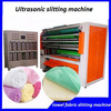 ultrasonic cross and straight fabric cutting machine with two roller cut