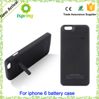 Top Quality 3000mAh External Battery Pack for iPhone 6 Portable Backup Power Charger Case Cover Power Bank Case 6 Colors