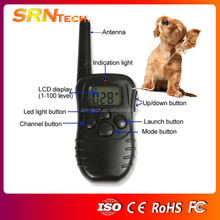 300M LCD Display Remote Control Pet Dog Training Collar, can set for 2 dogs S-998D