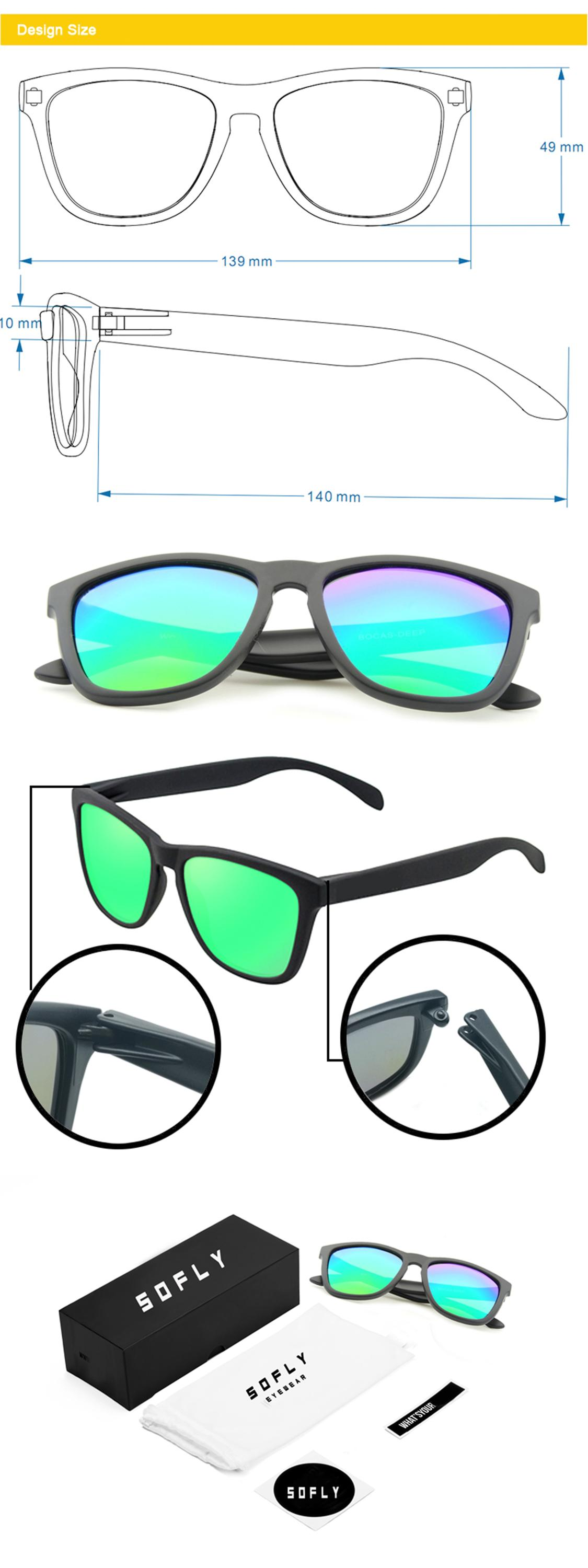 2018 Fashionable Brand OEM Factory PC Frame UV400 polarized sunglasses