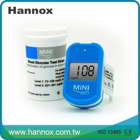 MiNi-check Blood Glucose Meter CE Approved Blood Sugar Testing Equipment with test strips