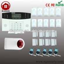 Intelligent SMS Burglar New GSM Wireless Alarm System with Color LCD screen With Outdoor Siren 10 PIR Sensor 8 Door Sensor