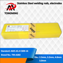 welding rods electrodes for Cr23Ni13 stainless steels, AWS A5.4 E309-16, TM-A302