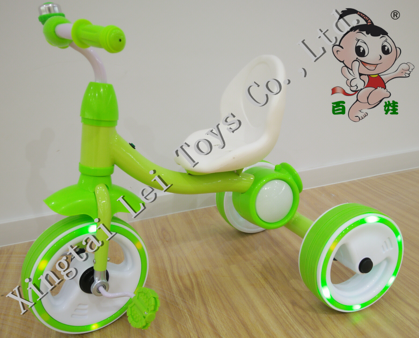 2016 baby walker blink light wheel tricycle free style trike subwoofer lamp/child tricycle high back seat/cheapkids smart trike