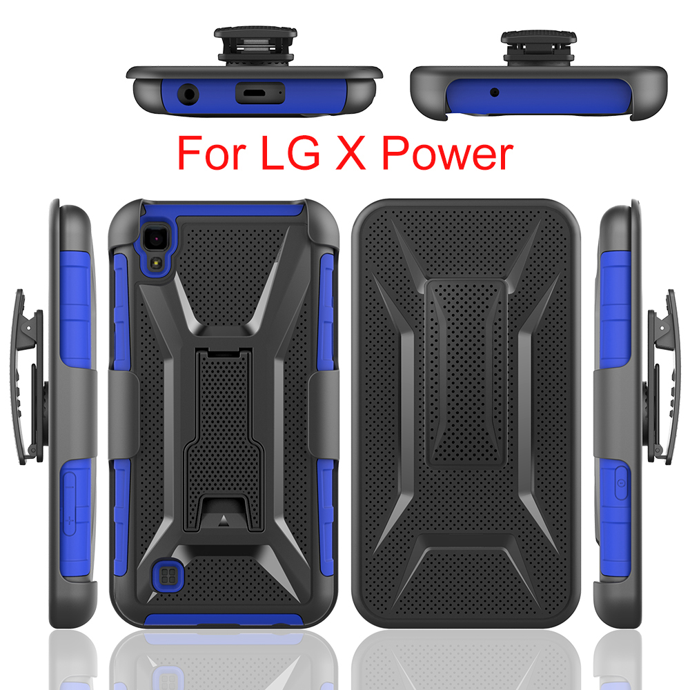 Factory made 3 in 1 Case for LG X Power Cell Phone Case with Stand Cover for LG X Power Armor Case