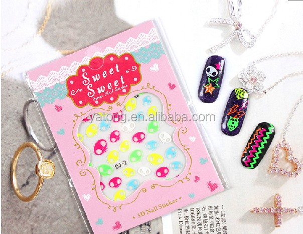 Personality nail art letter sticker