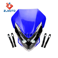 ZJMOTO Motorcycle Motocross Supermoto Headlight With LED Turn Signal Blinker YZ80 85 YZ125 250 YZ250F YZ426F 450F WR250F