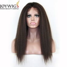 8A grade Natural looking kinky straight human hair wigs for black women