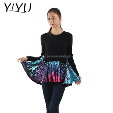 winter autumn high quality sweater girl black slim sequin knitted dress