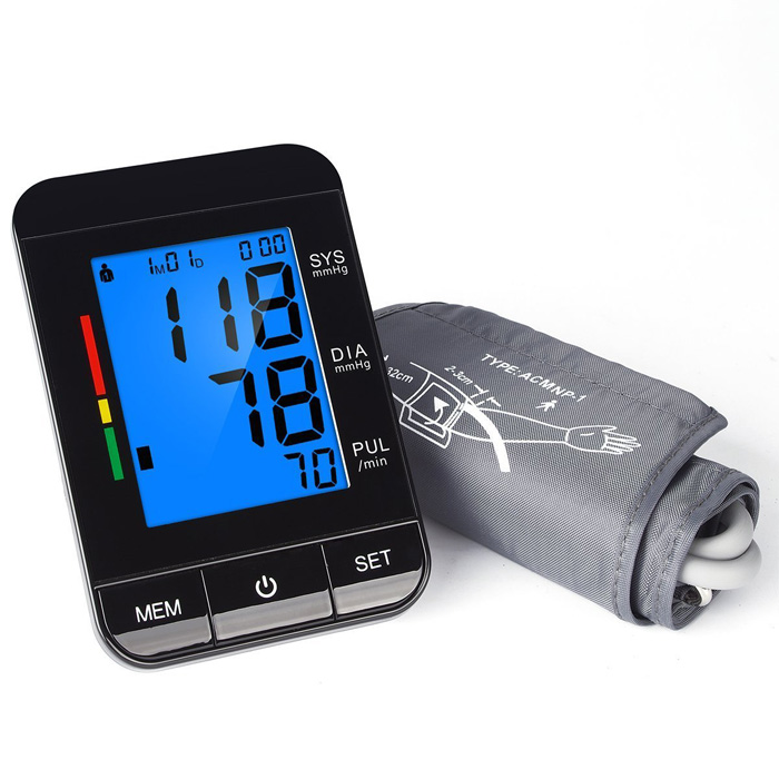 2017 New Digital Ultra Slim Blood Pressure Monitor Cuff with Backlight LCD Display,FDA Approval Upper Arm Blood Pressure Monitor