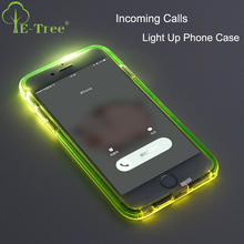 Creative Cool Gift TPU Frame Shock proof Incoming Calls Flash Light Up Cell Phone Case For iPhone 7 Plus