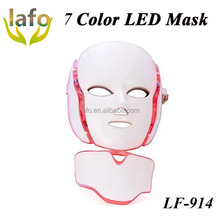 NEW HOT!! 7 Color LED Light Therapy beauty face mask / Homme Use beauty face mask with Neck