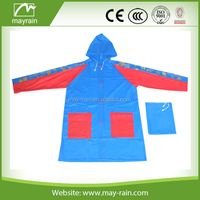 popular 2015 hot sell children raincoat pvc rainwear central