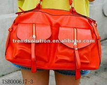 2013 fashion candy color large capacity pu shenzhen handbags