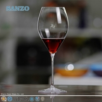 SANZO halloween pumpkin wine glass cup with short stem wholesale