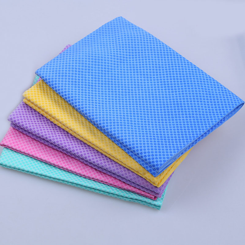 Factory cheap no fading PVA chamois dot embossing super absorbent car pet drying towel