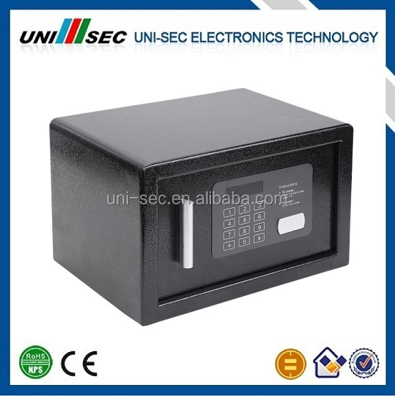 GODD QUALITY INTELLIGENT HOTEL ROOM SAFE BOX, MINI FIREPROOF SAFE BOX, HOTEL SAFE DEPOSIT BOX