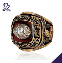 Delicate 1969 Kansas City Chiefs world champion American top ring with smart pattern