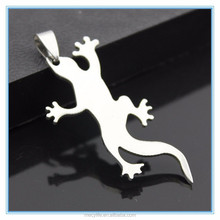 MECY LIFE hot sale stainless steel laser cut lizard pendant
