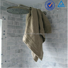 The thick and absorbent 100% flax linen spa towels