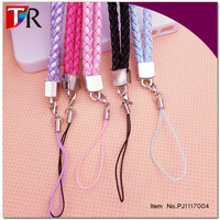 Wholesale PU Leather Mobile Phone Straps Hang Rope ,Sennit , Braided Rope