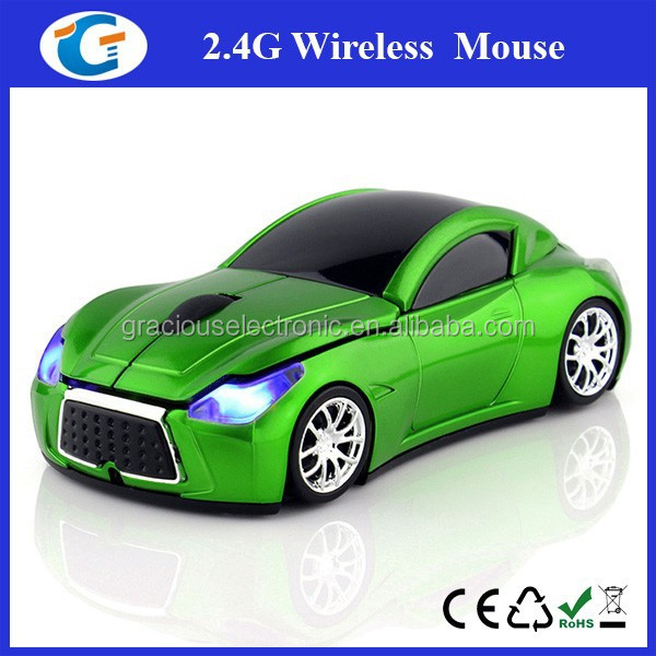 USB Wireless Optical Mouse 2.4GHz Car Blue-ray Mice