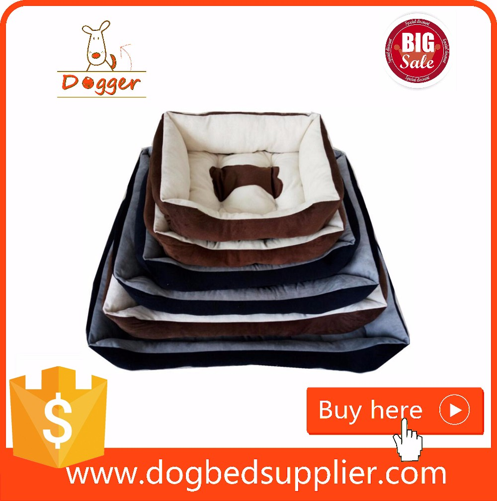Whosale high quality dog bed ,Canvas soft fuffy square stripes bed/cusion/mat for pets,pet bed in stock