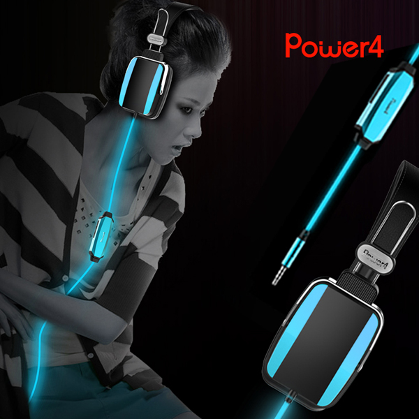 2014 newest Patent&exlusive EL&LED light gaming headphone headset earphone earbud for PC,mobile phone,game,all 3.5mm with MIC