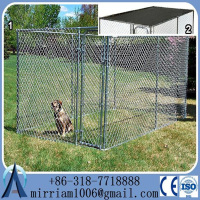 Hot dipped galvanzied Chain link dog kennel & dog cages& dog runs