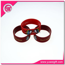 Reflective unbreakable cheap silicone wristband for gift