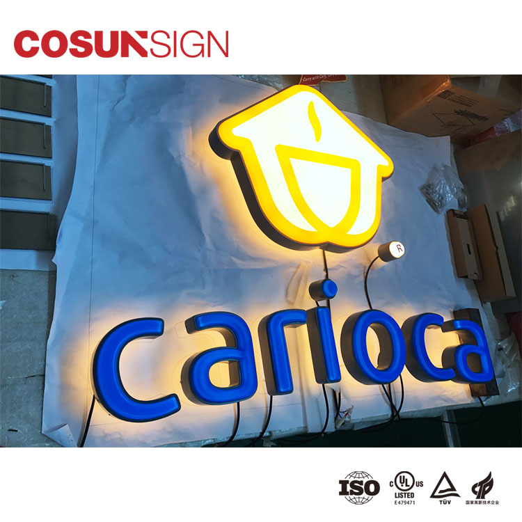 LED aluminum profiles fabricated letters for outdoor