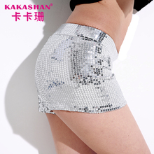 Hot sale women sexy club wear shiny tight glitter sequin short pants