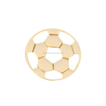 Fashion Gold Tone Soccer Interchangeable Key Charm For Bracelet