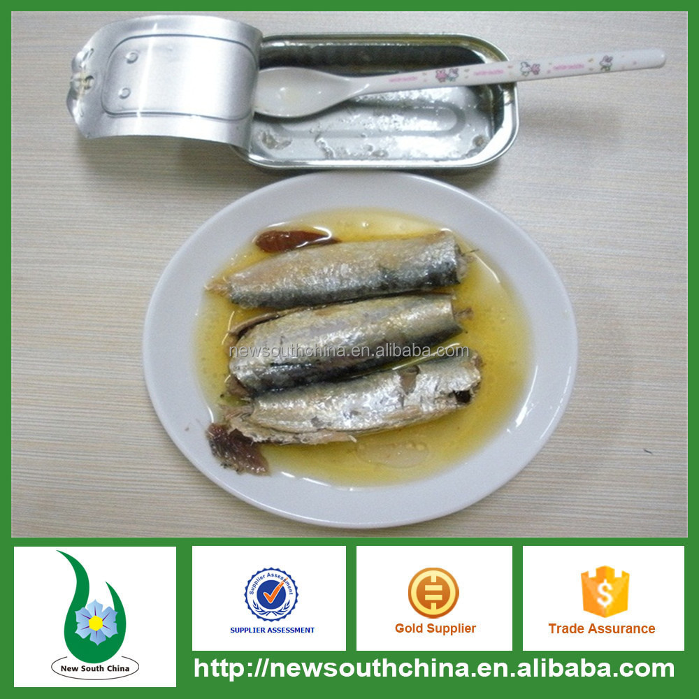 Halal Canned Sardine Fish In Vegetable Oil For Import Export