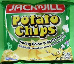 15gx25pkt POTATO CHIPS SPRING ONION & GARLIC FLAV