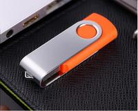 Orange usb swivel storage flash drive 8GB