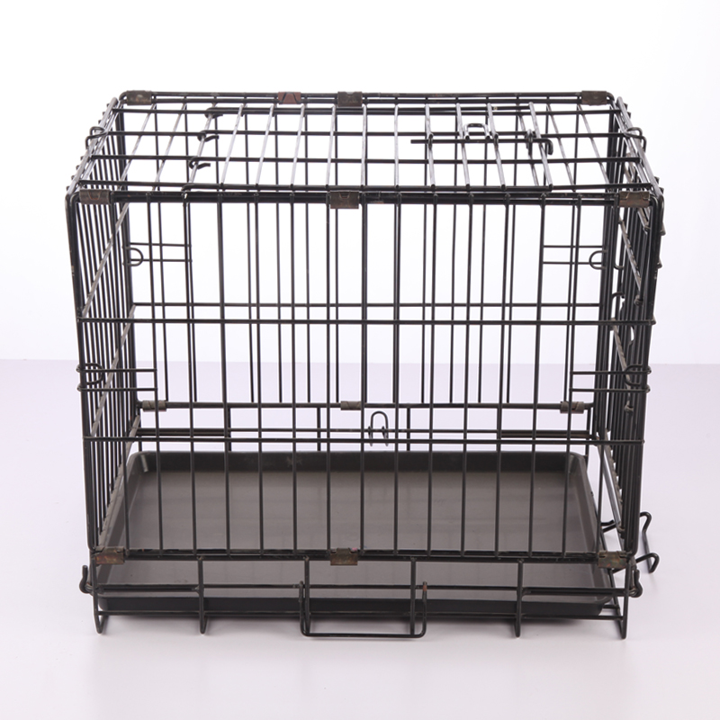 Best selling folding metal pet dog cage with wheels