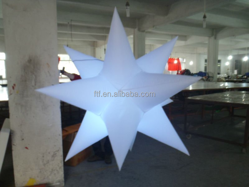 inflatable air star balloon with led
