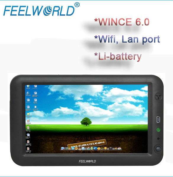 FEELWORLD 7 inch mini pc windows ce 6.0 with touch,wifi,lan port for printer and barcode reader,industrial application