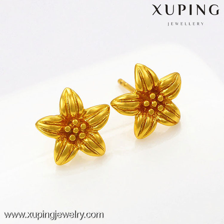 Simple metal design daily wear earring stud women,flower design stud earrings