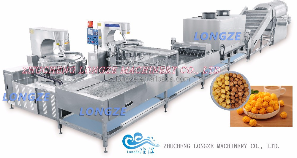 Fully automatic caramel /chocolate/original popcorn production lines