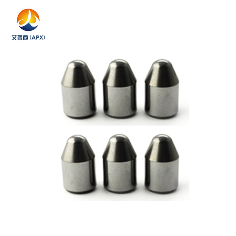 Tungsten carbide anvil alloy drill bit buttons button inserts