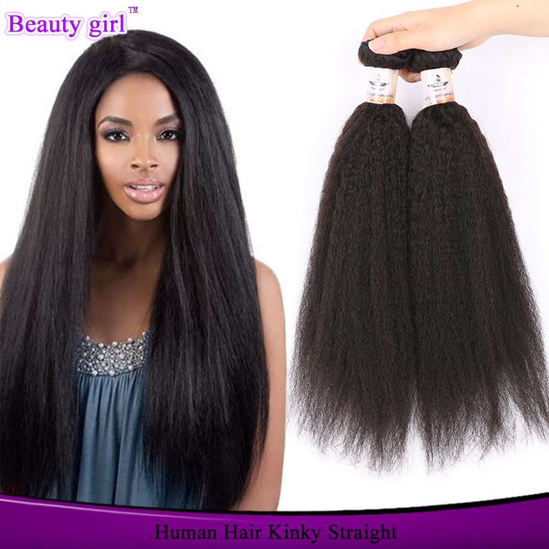Brazilian Virgin Hair Straight Hot Sell Beauty Yaki Human Hair Curly Italian Yaki Kinky Straight Hair