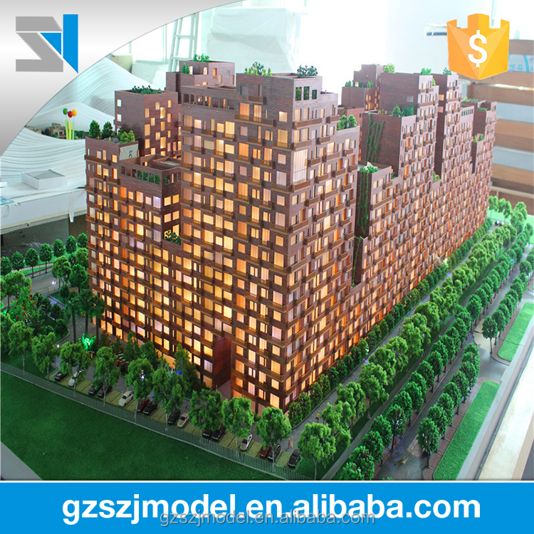 Local Indian Construction Building Scale model with Perfect 3D Architectural Rendering For Real Estate