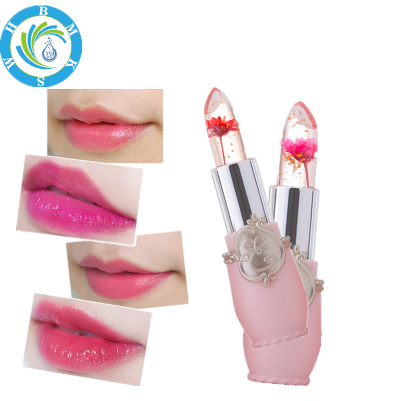 Jelly Lipsticks Temperature Change Color Moisturizer Lip Balm Transparent Flower Jelly Lipstick