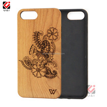 Solid wood phone case, free sample mobile back cover for IPhone7, case phone covers accessory for IPhone 8